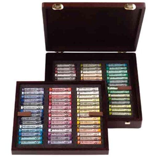 Cajas pastel rembrandt de 90 pasteles blandos de la marca rembrandt con colores especiales para retratos.