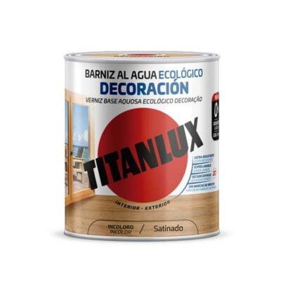 barniz al agua ecologico decoración titanlux